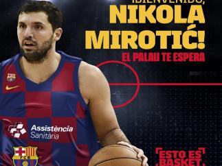 Nikola Mirotic firma tres temporadas con el Barça