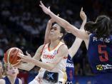 Anna Cruz con la selección española femenina de baloncesto
