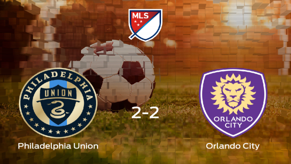 El Philadelphia Union y el Orlando City empatan a 2 en el Talen Energy Stadium