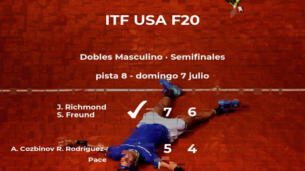 Richmond y Freund ganaron a Cozbinov y Rodríguez-Pace y estarán en la final del torneo de Pittsburgh