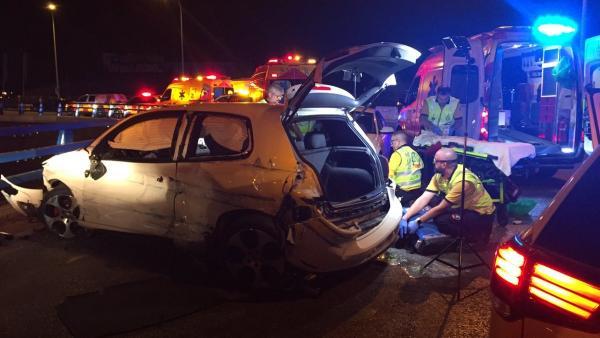 Accidente de tráfico en Vallecas