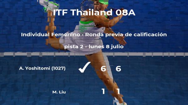 Aiko Yoshitomi vence en la ronda previa de calificación del torneo de Hua Hin