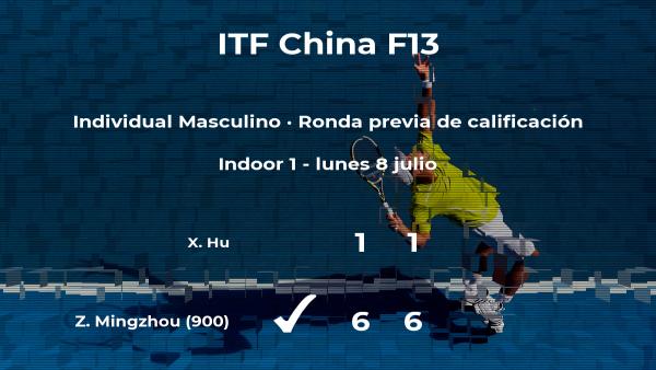Zhou Mingzhou logra ganar en la ronda previa de calificación a costa de Xin Hu