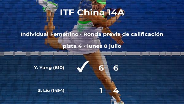 La tenista Yidi Yang pasa a la siguiente fase del torneo de Ulanqab