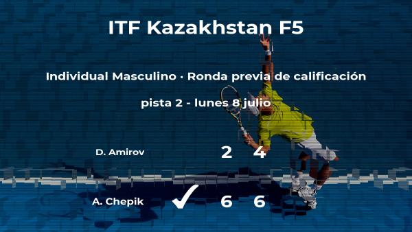 Alexander Chepik pasa de ronda del torneo de Almaty