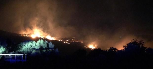 Incendio forestal en Ceuta