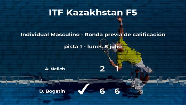 David Bogatin pasa a la siguiente fase del torneo de Almaty
