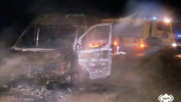 Extinción de un incendio en Mieres