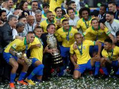 Brasil celebra la conquista de la Copa América