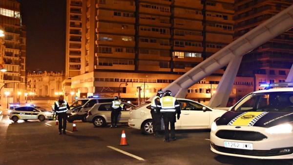 Control de la Policía Local de València en imagen de archivo