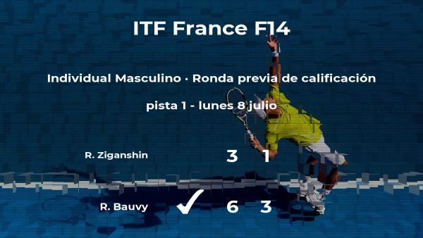 Triunfo de Romain Bauvy en la ronda previa de calificación