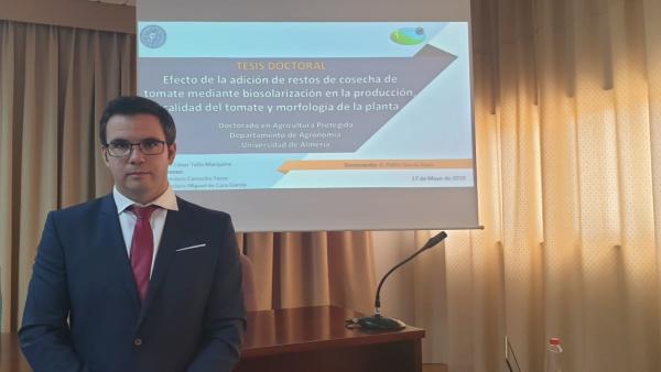 Pablo García Raya, investigador principal del artículo procedente de su tesis doctoral.