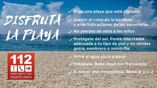 Consejos 112 en la playa