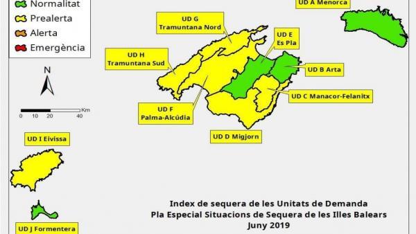 Índice de las reservas hídricas en Baleares en junio