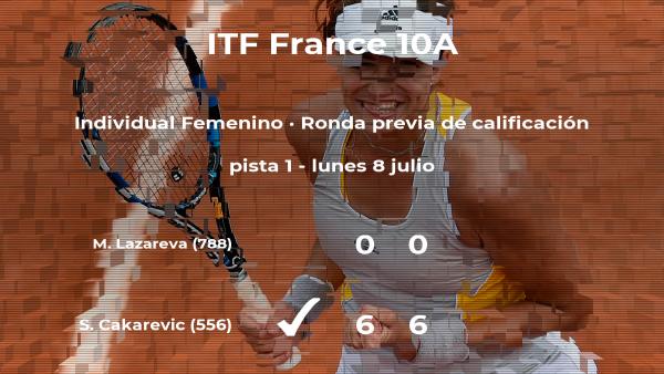 La tenista Sara Cakarevic consigue la plaza para la siguiente fase tras ganar en la ronda previa de calificación