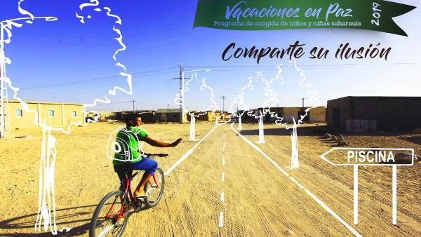 Niño saharaui. Cartel programa 'Vacaciones en paz 2019'