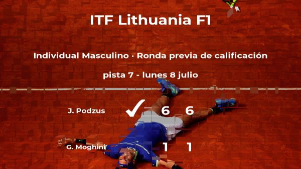 Triunfo para el tenista Janis Podzus en la ronda previa de calificación
