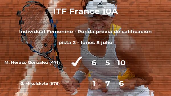 María Fernanda Herazo González consigue la plaza para la siguiente fase tras vencer en la ronda previa de calificación