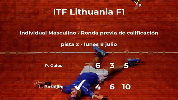 Lawrence Bataljin consigue la plaza para la siguiente fase tras ganar en la ronda previa de calificación