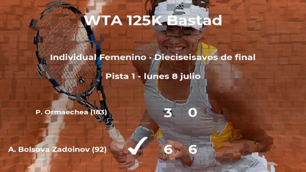La tenista Aliona Bolsova Zadoinov estará en los octavos de final del torneo de Bastad