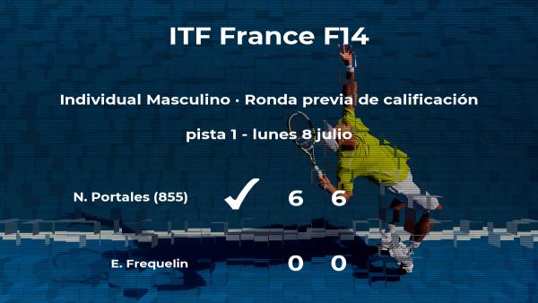 Victoria para Nino Portales en la ronda previa de calificación