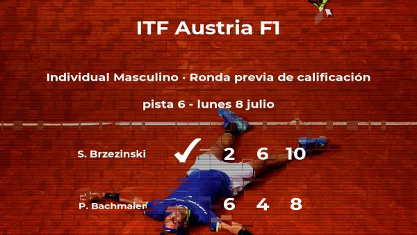 Sebastian Brzezinski gana al tenista Philip Bachmaier en la ronda previa de calificación