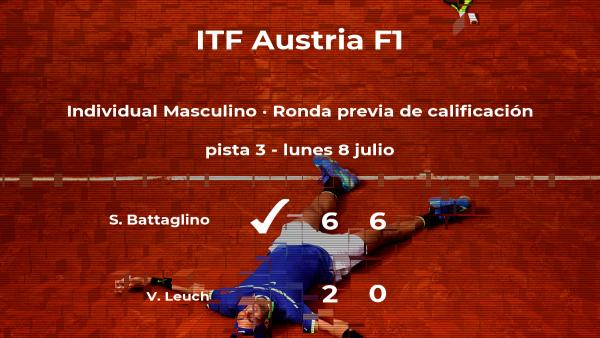 Stefano Battaglino logra vencer en la ronda previa de calificación contra el tenista Vital Flurin Leuch