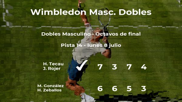 Tecau y Rojer vencen en los octavos de final de Wimbledon
