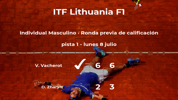 El tenista Valentin Vacherot pasa de ronda del torneo de Vilnius