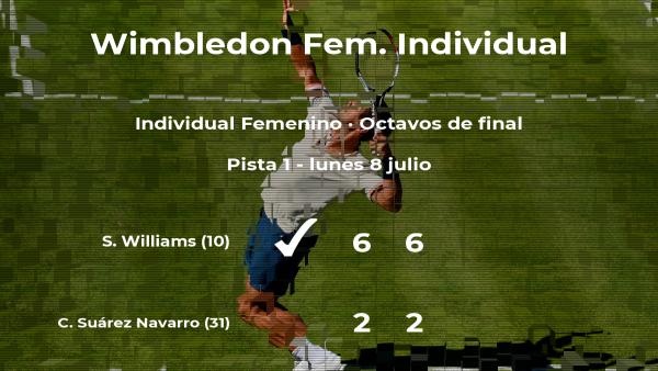 La tenista Carla Suárez Navarro, eliminada en los octavos de final de Wimbledon
