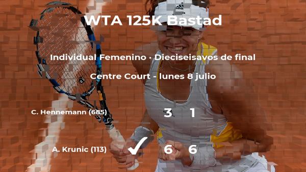 La tenista Aleksandra Krunic vence en los dieciseisavos de final del torneo de Bastad
