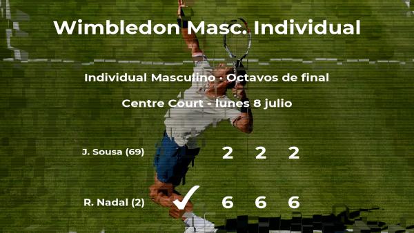 El tenista Rafael Nadal pasa a la siguiente ronda de Wimbledon tras vencer en los octavos de final