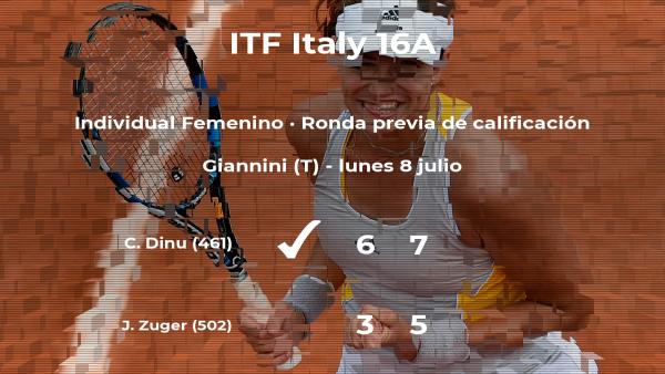 Triunfo de la tenista Cristina Dinu en la ronda previa de calificación