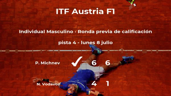 Triunfo del tenista Petr Michnev en la ronda previa de calificación