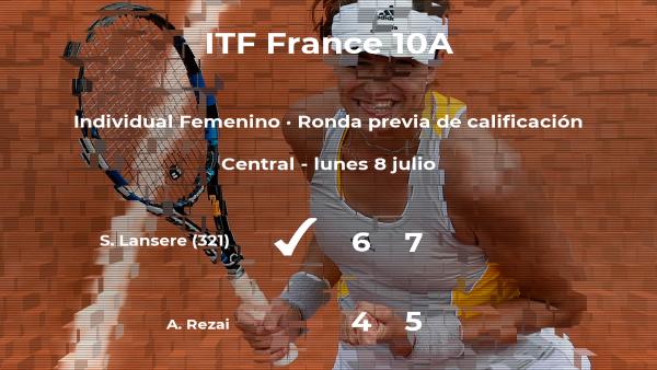 La tenista Sofya Lansere vence a la tenista Aravane Rezai en la ronda previa de calificación