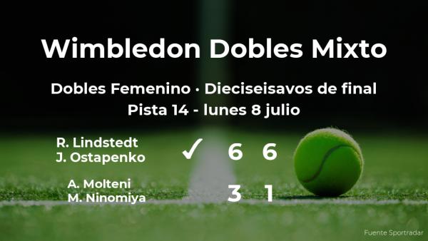 Lindstedt y Ostapenko logran clasificarse para los octavos de final de Wimbledon