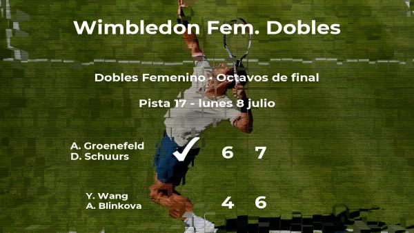 Las tenistas Groenefeld y Schuurs estarán en los cuartos de final de Wimbledon