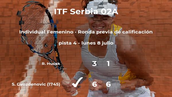 Victoria para Sara Gvozdenovic en la ronda previa de calificación