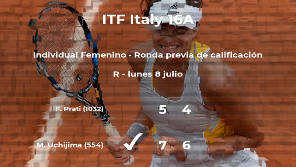 La tenista Moyuka Uchijima pasa a la siguiente fase del torneo de Torino