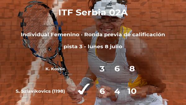 Szabina Szlavikovics vence a la tenista Katarina Kostic en la ronda previa de calificación