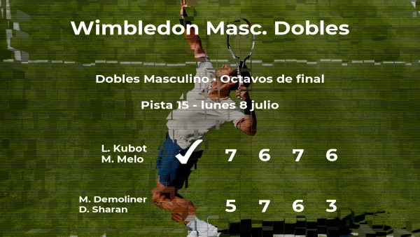 Kubot y Melo estarán en los cuartos de final de Wimbledon