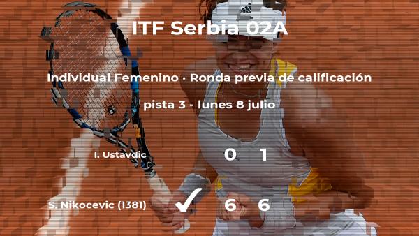 La tenista Sarah Nikocevic venció a la tenista Irma Ustavdic en la ronda previa de calificación del torneo de Prokuplje