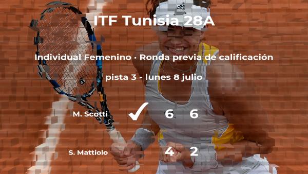 Maria Aurelia Scotti logra vencer en la ronda previa de calificación contra Silvia Mattiolo