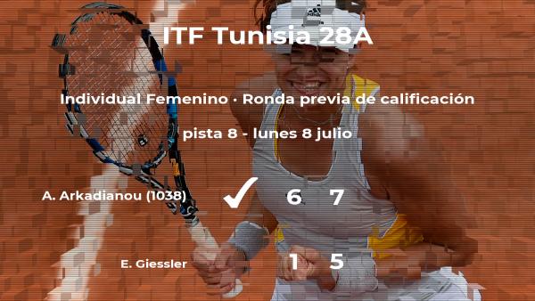La tenista Anna Arkadianou pasa de ronda del torneo de Tabarka