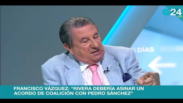 Francisco Vázquez en una entrevista en la TVG
