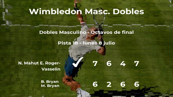 Mahut y Roger-Vasselin pasan a la siguiente fase de Wimbledon tras vencer en los octavos de final