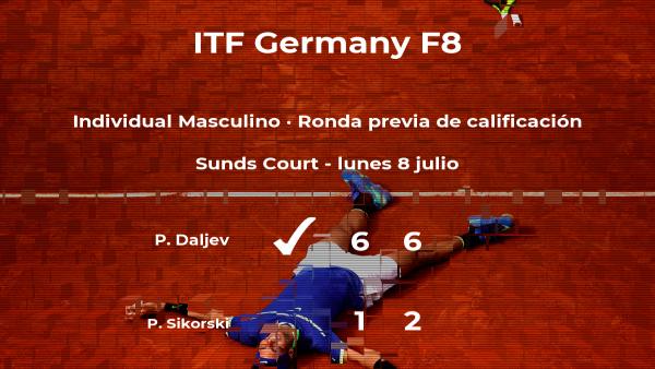 Pavle Daljev consigue la plaza para la siguiente fase tras ganar en la ronda previa de calificación