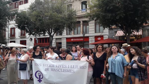 Imagen de la protesta del Movimiento Feminista de Mallorca contra la impunidad de las agresiones sexuales.