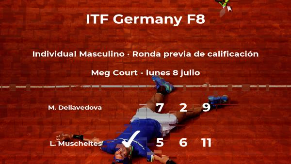 El tenista Lasse Muscheites logra vencer en la ronda previa de calificación contra el tenista Matthew Dellavedova