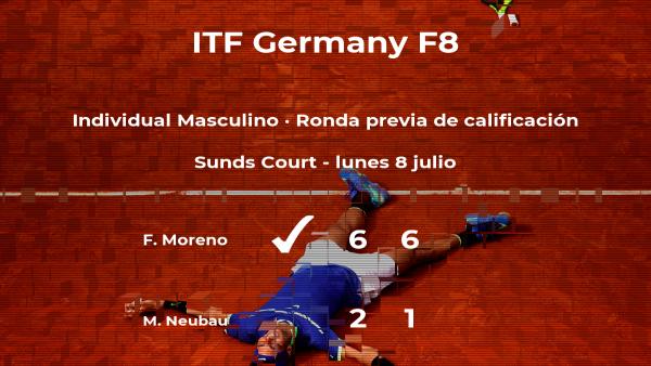 El tenista Marco Neubau, eliminado del torneo de Marburgo